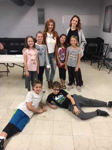 Anneliese van Der Pol (TV: Raven's Home, That's So Raven, Broadway: Beauty and the Beast [Belle]) with some of our Musical Theater Technique classes- Fall 2018